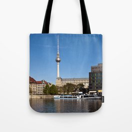 Autumnal Feeling at the River Spree in Berlin Tote Bag