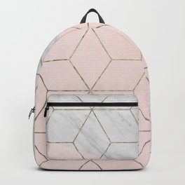 Florence dreams - marble geometric Backpack