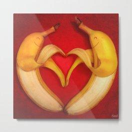 Banana Love Metal Print