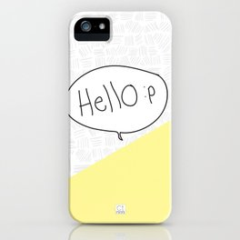 Hello :p iPhone Case