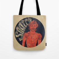 snatch Tote Bags featuring Snatch by javier millan