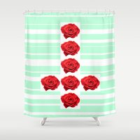 cross Shower Curtains featuring CROSS by Y▲N▲