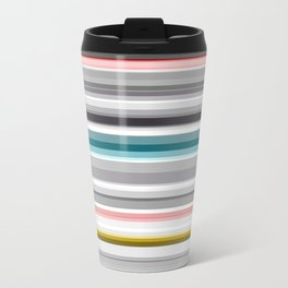 grey and colored stripes Travel Mug