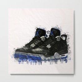 Jordan 4 Splatter Metal Print