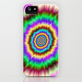 Color Explosion in Violet and Green iPhone Case