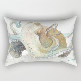 Watercolor Octopus Rectangular Pillow