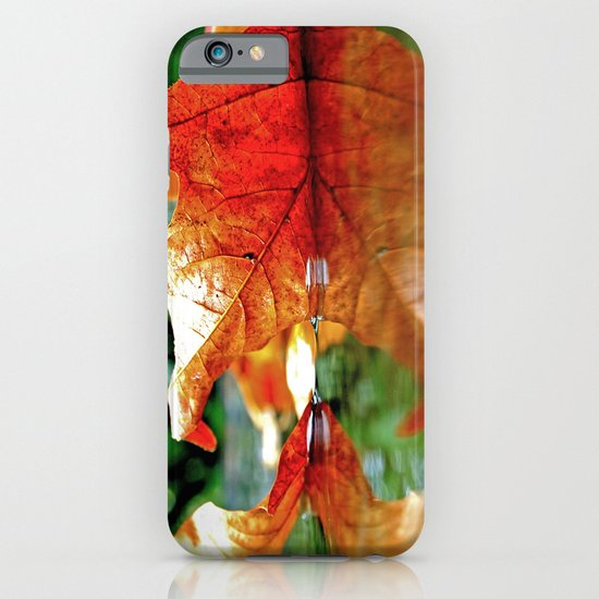 Autumn leaf reflected iPhone & iPod Case