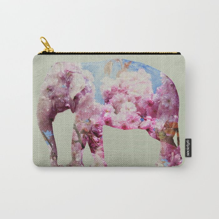 Cherry blossom Elephant Carry-All Pouch