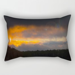 October Cloudy Sunset #decor #buyart #society6 Rectangular Pillow