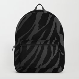 Zebra Stripes & Dark Metallic Backpack