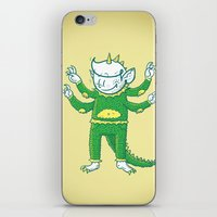 kaiju iPhone & iPod Skins featuring thegoodhabit kaiju by TheGoodHabit