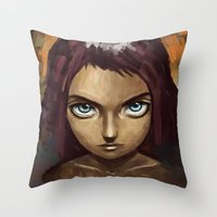raven Throw Pillows featuring Raven by Freeminds