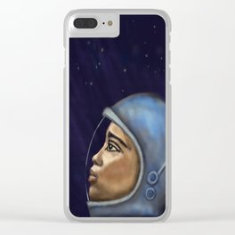 Looking into the Unknown Clear iPhone Case