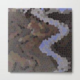 ZANN, A FROZEN RIVER ON THULE Metal Print