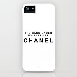 Designer eye bags iPhone Case