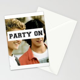 Party on dude Stationery Cards