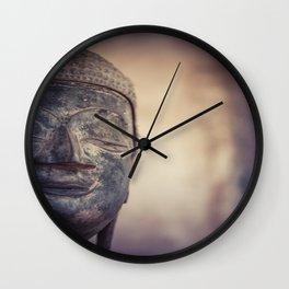 Buddha in Haw Phra Kaew, Laos Wall Clock