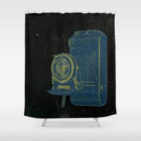 focus Shower Curtains featuring Focus by Last Call