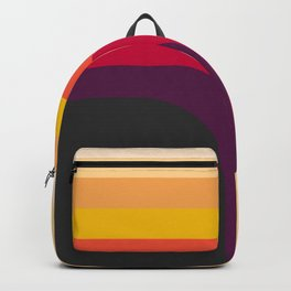 Abstract Geometric Retro Color 70s Vintage Pattern Backpack