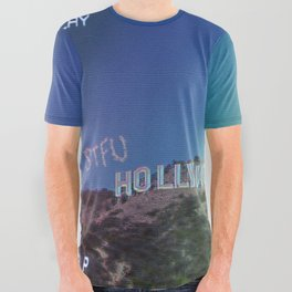 80s stfu hollywood All Over Graphic Tee