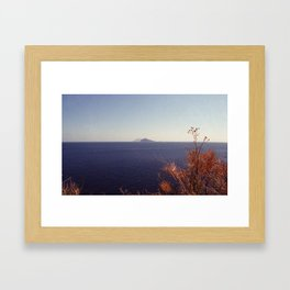 Stromboli e Panarea Framed Art Print