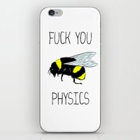 physics iPhone & iPod Skins featuring Physics sucks by Babatunde993