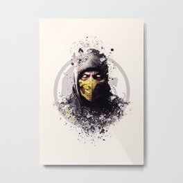 MK X, Scorpion splatter Metal Print
