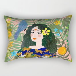 Boho Lady Rectangular Pillow