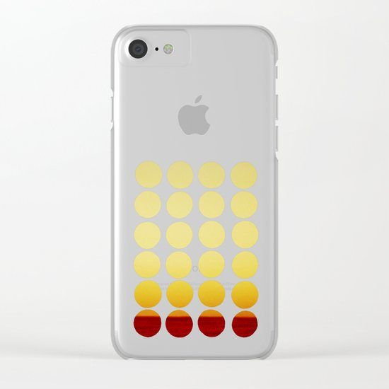 Warm dots Clear iPhone Case