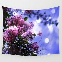 sparkle Wall Tapestries featuring Lilac Sparkle by minx267