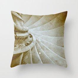 Sand stone spiral staircase 17 Throw Pillow