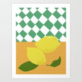 Spring lemons Art Print