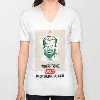 predator V-neck T-shirts featuring Predator by Chris Moran