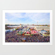 Oktoberfest from Above Art Print