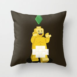 I want to brick free ! Throw Pillow