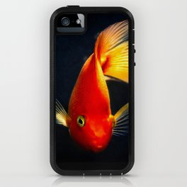 Goldgish in the dark water iPhone Case