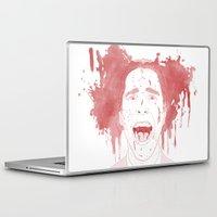 patrick Laptop & iPad Skins featuring Patrick Bateman by Itxaso Beistegui Illustrations