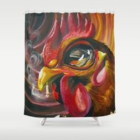 cigarette Shower Curtains featuring Last Cigarette by Brandon Heffron