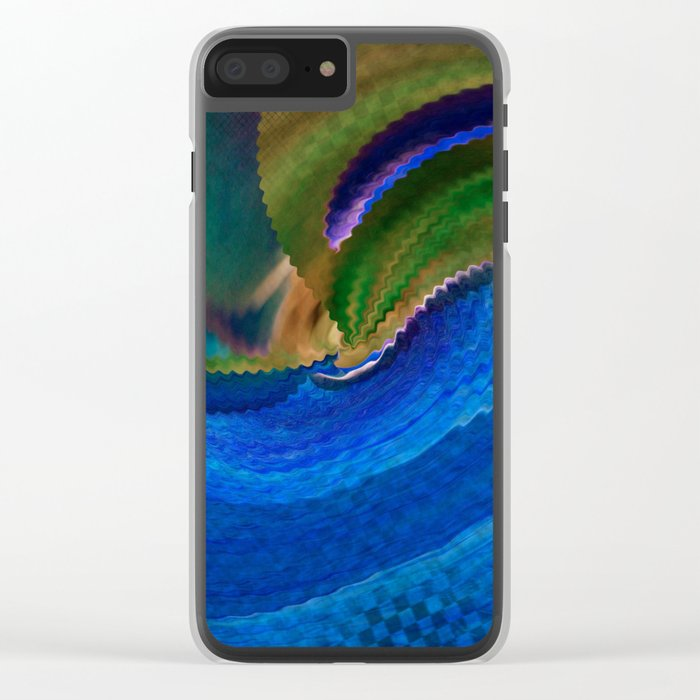 Wild Alaskan Sea Abstract Clear iPhone Case