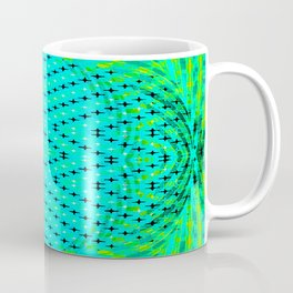 FLUX #3  Optical Illusion Vibrant Colorful Psychedelic Trippy Design Coffee Mug