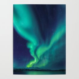 Aurora Borealis Lights Up the Sky (Northern Lights) Poster