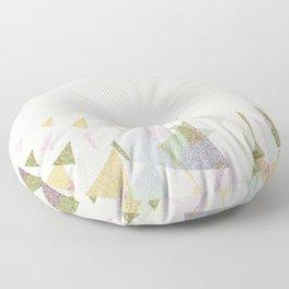 #Retro flying  #triangles Floor Pillow