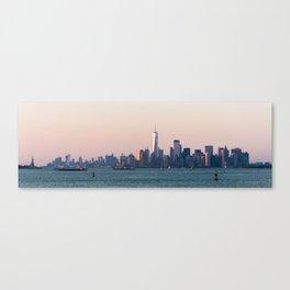 New York City Summer Sunset Skyline Canvas Print