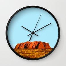 uluru polygon Wall Clock