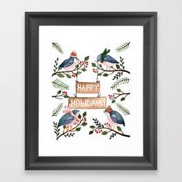 Holiday Birds Framed Art Print