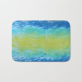 Wave Tie Dye January Ocean Bath Mat