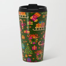 christmas x stitch pattern for the holiday mood Metal Travel Mug