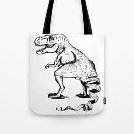 Unravelled T-Rex Dinosaur Tote Bag