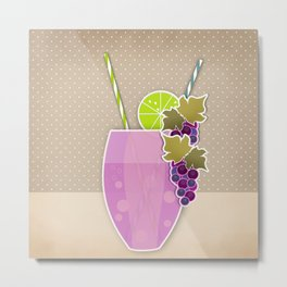 "Picture. The grape juice. From a set of paintings. The ""kitchen"". Metal Print"