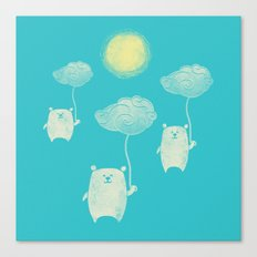 Bears In The Airs Canvas Print